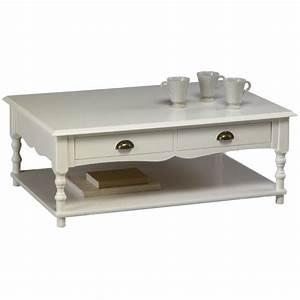 Table Basse Blanche Et Verre : table basse blanche de style anglais beaux meubles pas chers ~ Teatrodelosmanantiales.com Idées de Décoration