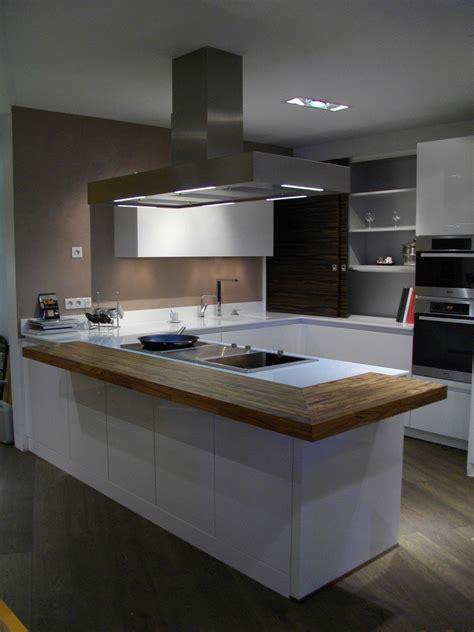 awesome cuisine noir plan de travail bois blanc images