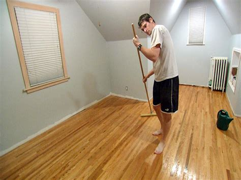Applying Polyurethane To Stained Wood Floors by Sweat Equity Diy