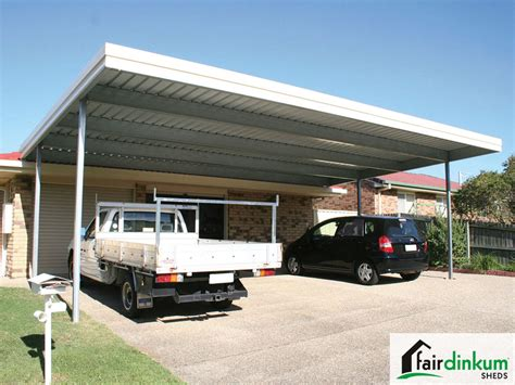 Flat Roof Carport  Customise Size & Colours  Fair Dinkum