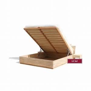 Lit Maison Bois : lit coffre bois ~ Premium-room.com Idées de Décoration