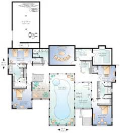 house plans with pools home plan with indoor pool homedesignpictures