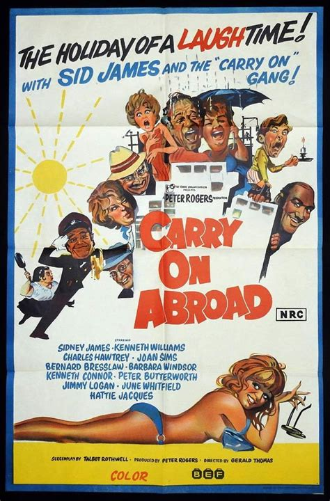 CARRY ON ABROAD Original One sheet Movie Poster Sid James ...