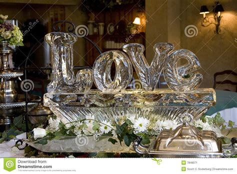 love ice sculpture stock image image  chiseled carved