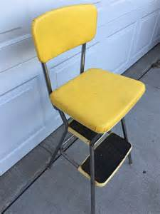 retro yellow step stool cosco style