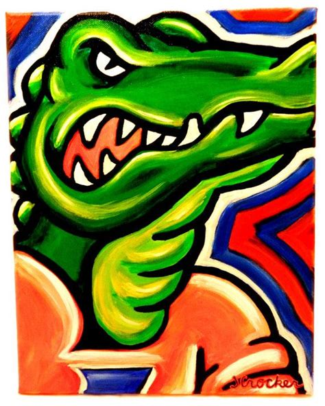 florida gators painting sports art college art colleges