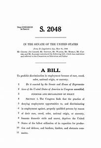 78th us congress second session senate bill 2048 the With legislative bill template