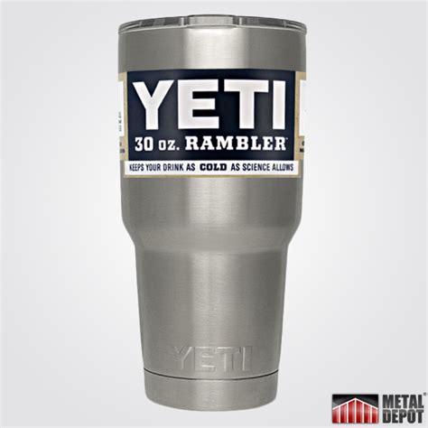 personalized powder coated yeti  oz rambler tumbler  custom laser etching