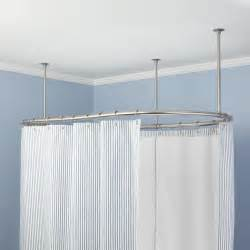 fresh clawfoot tub shower curtain rod diy 18475