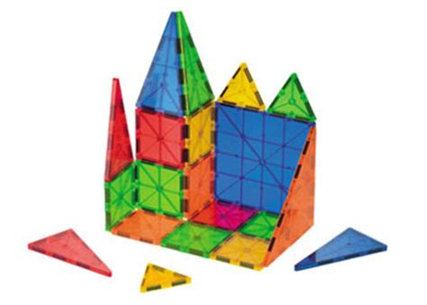 Magna Tiles Clear 32 Building Set by Translucent Magnetic Tiles Construction Set 32 Pieces