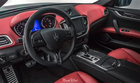 maserati truck red interior maserati ghibli car wrap in xpel stealth paint protection