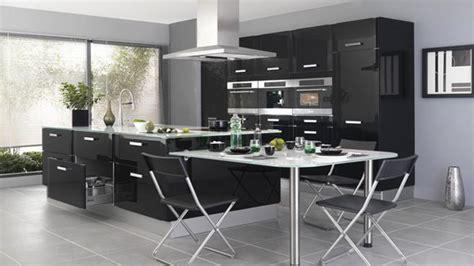 depot cuisine cuisine ouverte noir