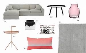 Salon Gris Et Rose : une d co de salon en rose et gris shake my blog ~ Preciouscoupons.com Idées de Décoration