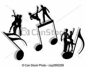 Stock Illustrations of Music and dance - Couples dancing ...