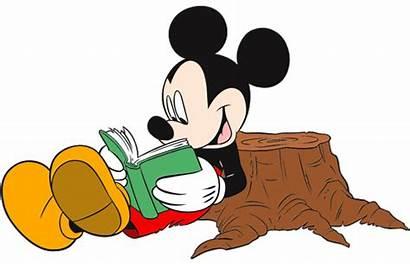Mickey Disney Books Library Mouse Clip Cartoon