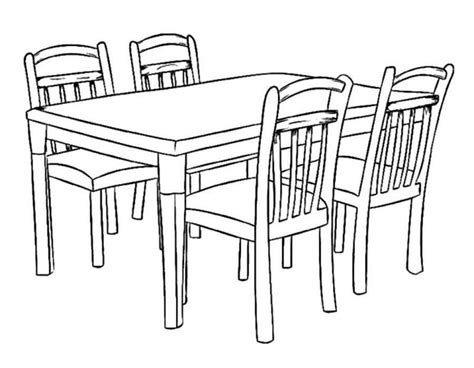 vintage dining table coloring sheet