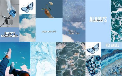 wallpaper blue aesthetic in 2020 macbook wallpaper
