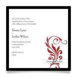 wedding invitation etiquette invitation wording for reception only sles