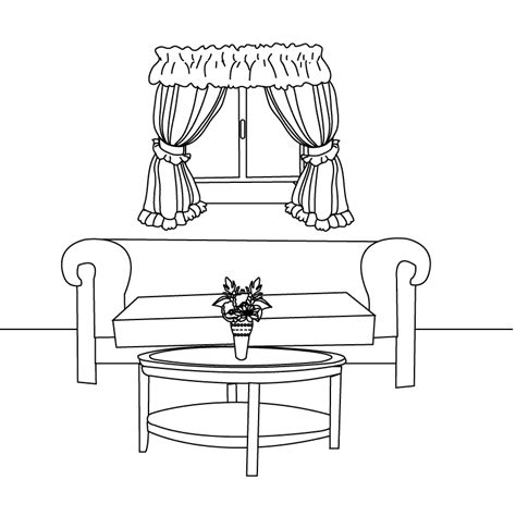 living room drawing living room buildings and architecture printable