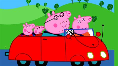 Peppa Pig Car HD Wallpaper