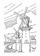Windmolens Windmill Coloring Kleurplaat Windmills Farm Kleurplaten Van Pages Template Kleurplatenenzo Nl Hout Adult Fun Sheets Kunst Pyrography Kleuren Pisces sketch template