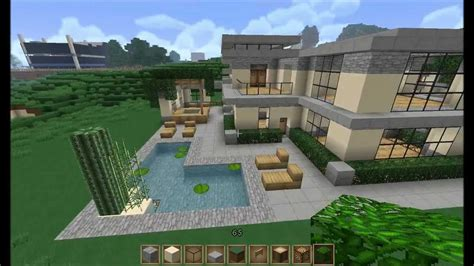 minecraft let s build large modern house part 3