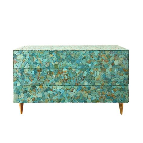 Commode Turquoise by Kam Tin Commode En Turquoise