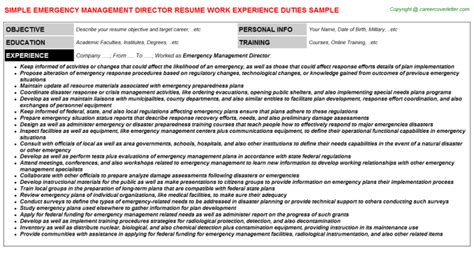 Emergency Manager Resume by Risk Management Resumes