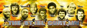 the steel curtain defense pittsburgh steelers 1970s poster