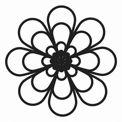 Outline Flower Icon Dahlia Transparent Svg Vector