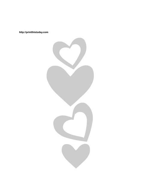 free printable hearts stencils