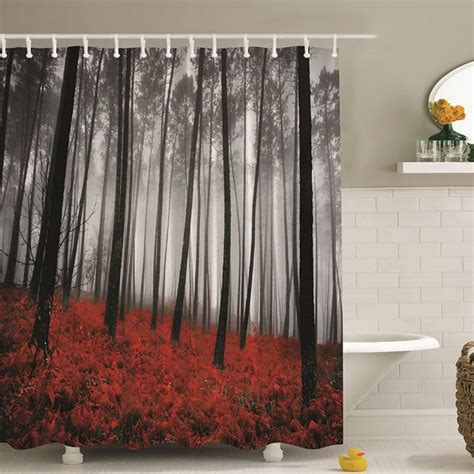 Waterproof Shower Curtains by Waterproof Polyester Fabric Various Pattern With 12 Hook