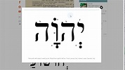 How to Pronounce YHWH, the Creator's Name Yehowah, and the ...