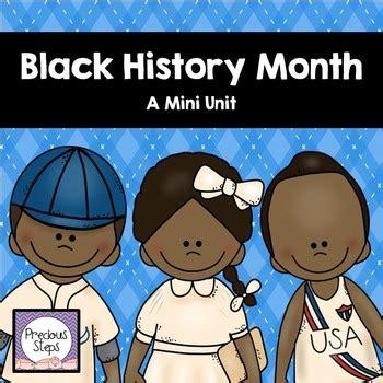 black history month  precious steps preschool tpt