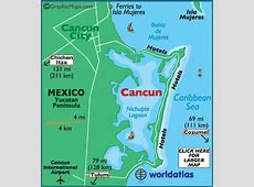 Cancun Latitude Longitude and Relative Location Hemisphere
