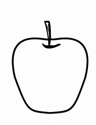Apple Coloring Pages Colouring Clipart Printable Apples