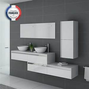 Meuble Vasque Double : meuble de salle de bain blanc double vasque dolce vita b meuble de sdb 2 vasques blanc ~ Teatrodelosmanantiales.com Idées de Décoration