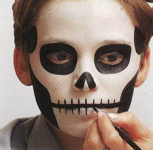 Maquillage Squelette Facile : maquillage halloween facile qui fait peur ~ Dode.kayakingforconservation.com Idées de Décoration