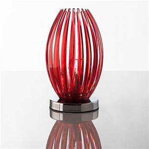 Lampe A Poser : lampe poser design transparent rouge jaune ou bleu grace ~ Nature-et-papiers.com Idées de Décoration