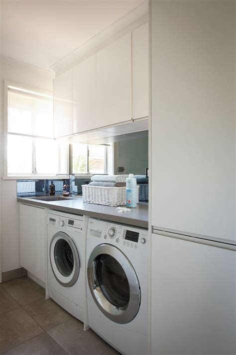 freedom kitchens sleek concrete modern industrial laundry