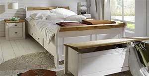 Bett Massivholz Weiß : massivholz bett mit schubladen 140x200 holzbett kiefer massiv wei gelaugt ~ Indierocktalk.com Haus und Dekorationen