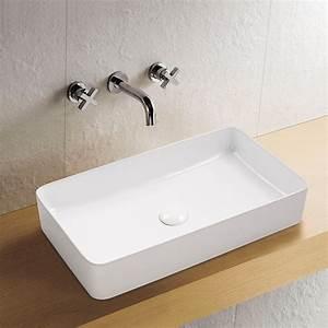 Aufsatzwaschbecken 60 Cm : aufsatz keramik waschbecken soho brillant wei 60 cm badkeramik waschbecken ~ Indierocktalk.com Haus und Dekorationen