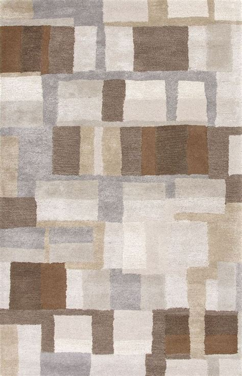 Gray And Brown Area Rug by Jaipur Bl126 Hand Tufted Durable Wool Art Silk Gray Brown