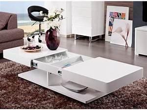 Table Avec Rangement : table basse aramis avec rangements mdf laqu 2 coloris ~ Teatrodelosmanantiales.com Idées de Décoration