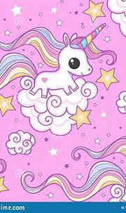 Seamless Pattern With Unicorn On A Pink Background ...