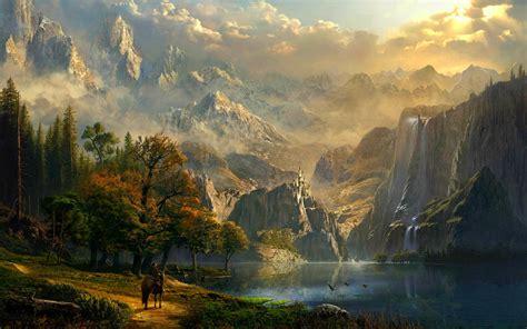 Permalink to Fantasy Mountain Wallpaper