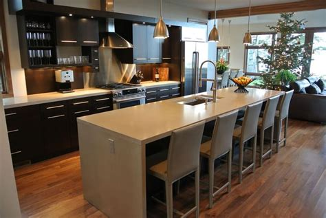 hard topix precast concrete countertop kitchen island