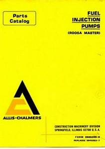 A Chalmers Roosa Master Fuel Injection Pump Part Manual