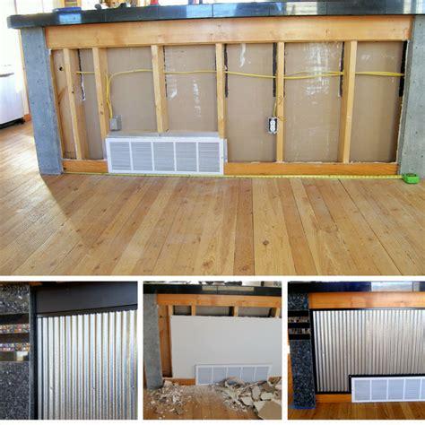 corrugated metal kitchen island diy kitchen island with corrugated metal 5883