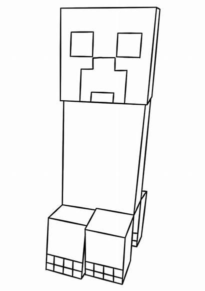 Minecraft Creeper Colorir Dibujos Coloring Imprimir Colorear